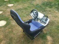 Playseat racing seat with steering wheel & pedals for Xbox360