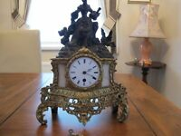 Antique French 8 day mantle clock