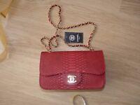 Red Ladies Chanel alligator style. Brand new.