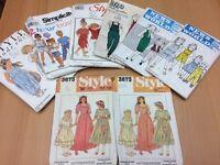Children's vintage sewing patterns