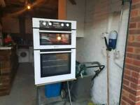Hotpoint Double Integrated Electric Oven & Grill