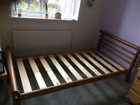 Contemporary wooden single bed