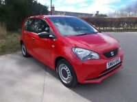 2014 64 SEAT MII 1.0 12V S 5 DOOR HATCHBACK IN BRIGHT RED CALL 07791629657