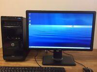 HP Pro A6 5400K 3.60Ghz / 8GB Ram / 500GB/ USB 3.0 / Wifi / HD7480D + Dell Monitor Desktop Computer