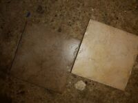 Wall tiles 10cm square - beige and brown