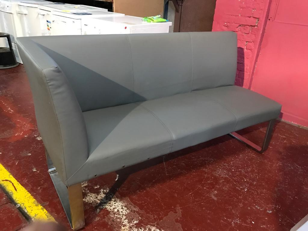 Graphite Grey Loop 3 Seater Left Hand Faux Leather Corner Dining