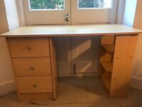 Medium-sized desk with inbuilt storage