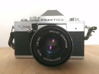 PRAKTICA Super TL 35mm SLR Film Camera with 50mm Lens (Great Quality)