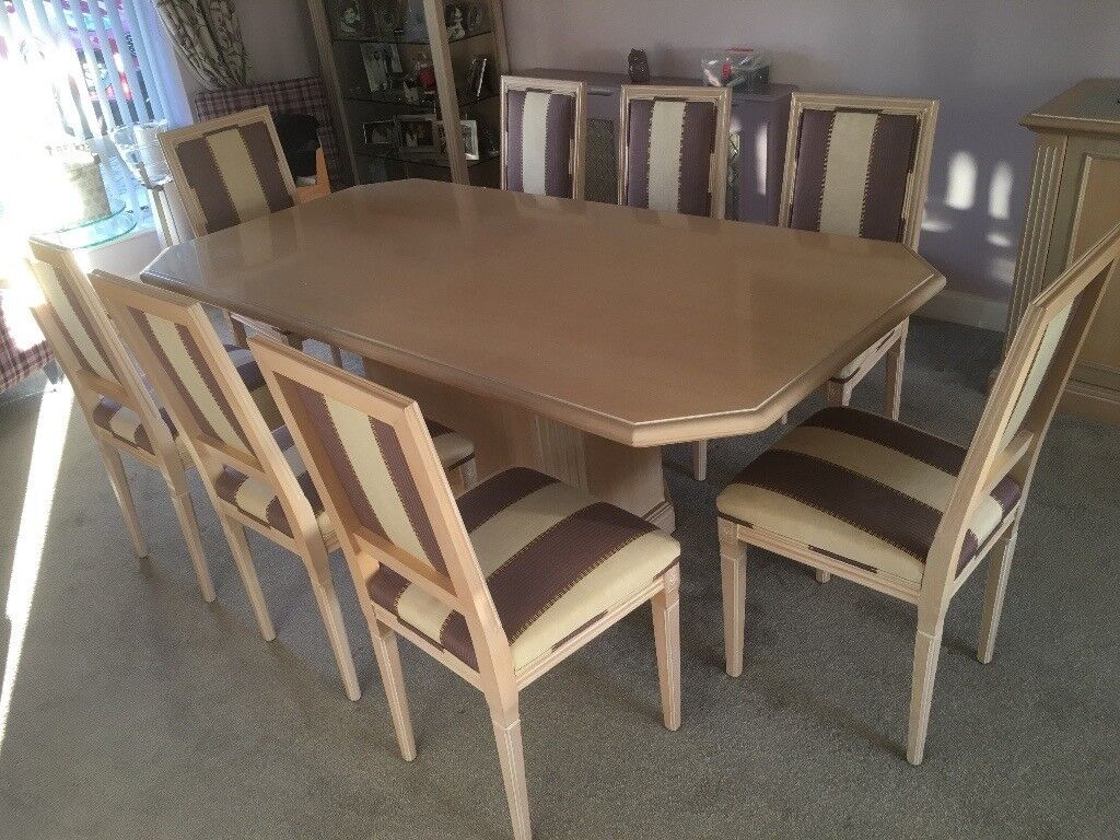 For Maple Dining Table And 8 Chairs