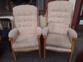 Fireside chairs x 2