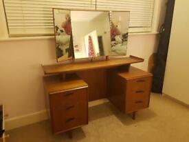 Teak dressing table / desk retro vintage mid-century Danish? Heals