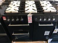 LEISURE AL90F230K Dual Fuel Range Cooker - Black. £649.99
