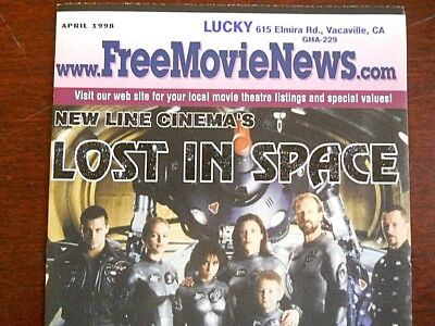 LOST IN SPACE MOVIE ON THE COVER MOVIE NEWS, APRIL 1998, MINT COND free shipping
