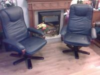 TWO BEAUTIFUL HIGH BACK SWIVEL CHAIRS FOR SALE. COULD DELIVER.