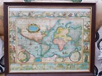 !Reserved for collection! Free World map + frame