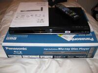 Panasonic Blu Ray Player