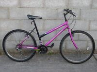 ladies pink bike 26''