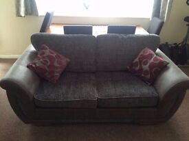 DFS 2 seater grey sofa