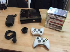 Xbox 360 Slim 250gb + 14 games