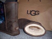 GENUINE UGG BOOTS, UK SIZE 3, WORN TWICE
