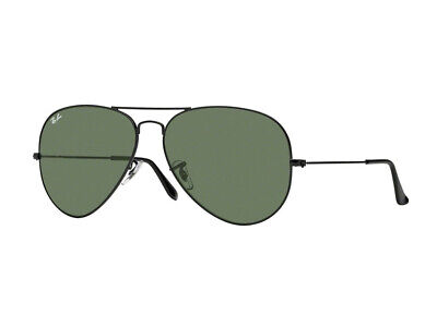 Sonnenbrille Ray Ban schwarz RB3026 AVIATOR große Metall II grün g15 L2