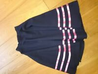 Ballet character skirt (Navy with pink stripes)