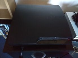 Ps3 console, charging station, 3 x controllers and 19 games.