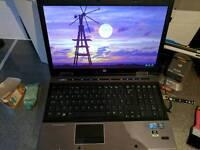 Hp elitebook 8540w 4gb ram, i5, nvidia quadro 880m, 250gb hard drive