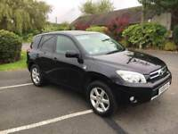 TOYOTA RAV 4 4X4 2.2 DIESEL 2008 08 BLACK ESTATE SUV MPV EXPORT MANUAL XT-R FSH