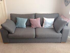 Next large grey sofa x2