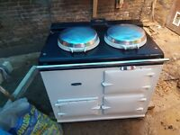 AGA - Gas Hob, white colour, good working condition. To be collected from London SW6 Fulham area.
