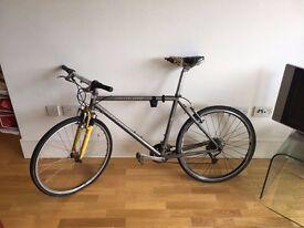 Silver Specialized Rockhopper Bike
