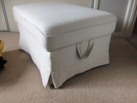 Ikea Cream Footstool with storage
