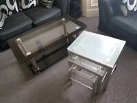 Coffee Table and Nest of 3