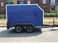 Twin axle tow van box trailer