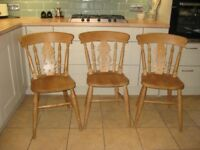 Beech Fiddleback Chairs
