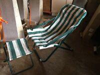 Recliner deckchair