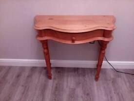 Waxed pine table