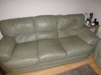 3 and 2 seater sofas leather