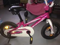 Girls pink specalized bike like new cost £150 new