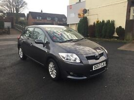 Toyota auris 2007 Service history, two owner