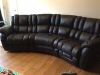 La-z-boy Augusta curved reclining 4 seater sofa