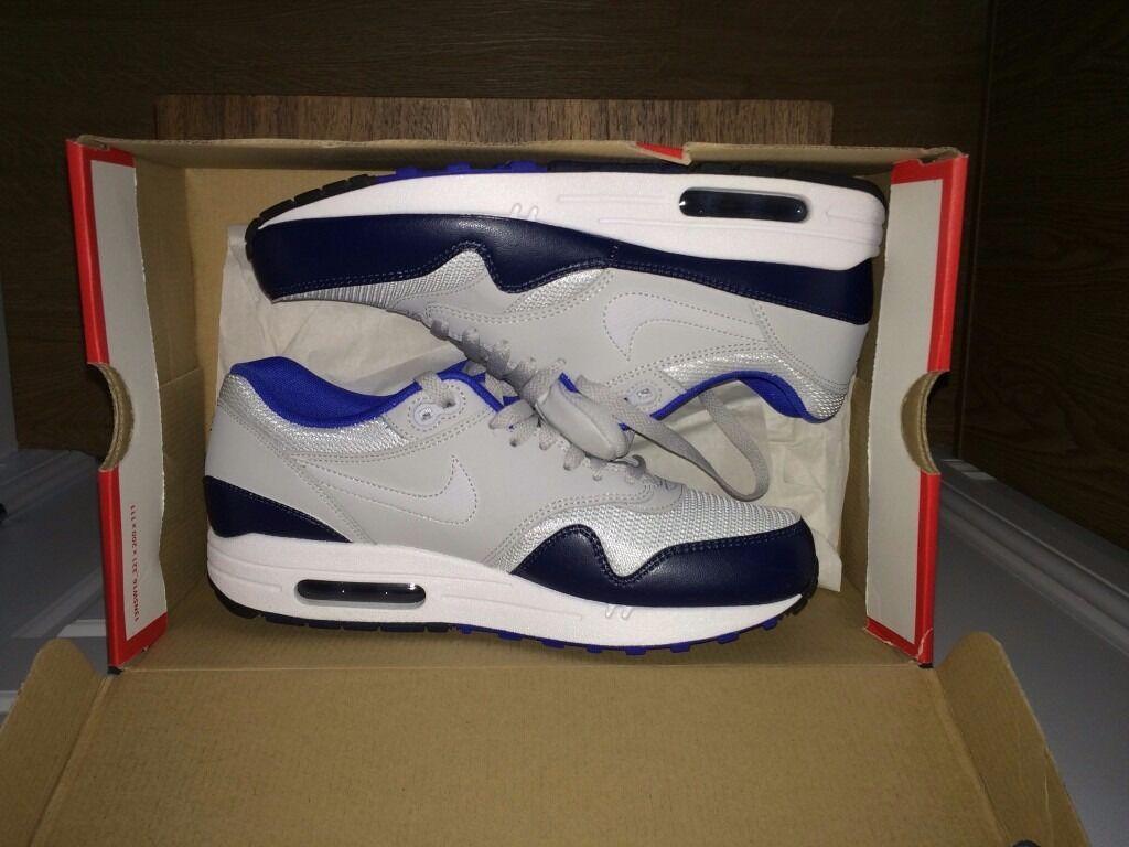 46d9601fea3 Nike Air Max 1 Ultra Essential - Men Shoes Color  Neutral Grey-Game Royal- Neutral