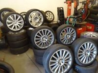 "18"" and 19"" V/W and AUDI ALLOYS 5 DIFF SETS FOR SALE INCLUDING 18"" AUDI RS6 ALLOYS frm£250"