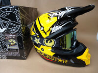 New S 55-56cm 2017 Fly Rockstar Helmet Dragon Goggles Motocross Road Legal