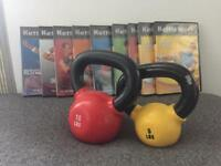 Kettle Worx kettle bells and work out DVDs