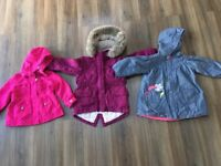 Bundle of girls coats 2-3 years