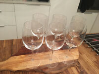6 Habitat crystal wine glasses - near new/excellent condition