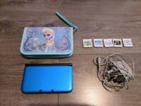 Nintendo 3ds xl with 5 games and case