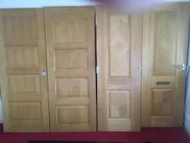 4 Solid Oak Doors